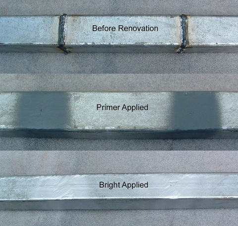 repairing galvanised steel
